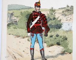 Oesterreich-Ungarn 1859 - Uniformenkunde - Richard Knötel - VII - Planche 37