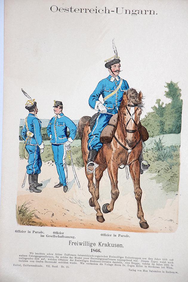 Oesterreich-Ungarn 1866 - Uniformenkunde - Richard Knötel - VII - Planche 25