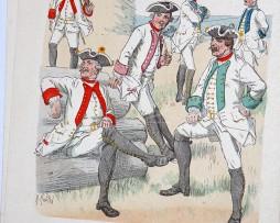 Oesterreich-Ungarn 1762 - Uniformenkunde - Richard Knötel - VI - Planche 12