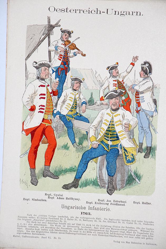 Oesterreich-Ungarn 1762 - Uniformenkunde - Richard Knötel - VI - Planche 13