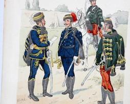 Oesterreich-Ungarn 1859 - Uniformenkunde - Richard Knötel - VI - Planche 1