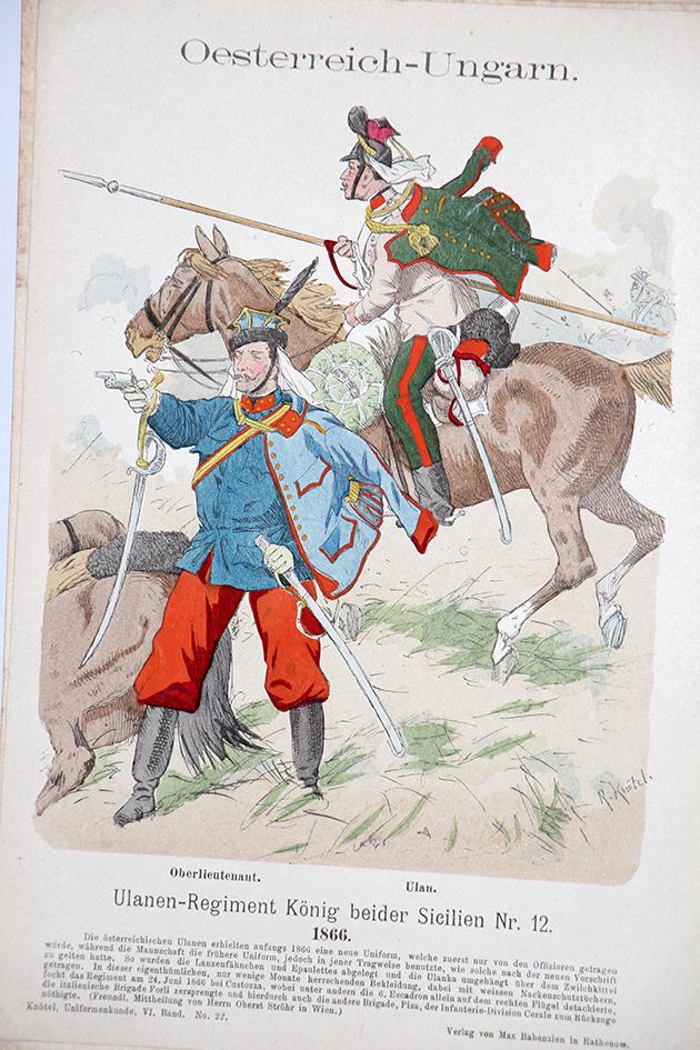 Oesterreich-Ungarn 1866 - Uniformenkunde - Richard Knötel - VI - Planche 22