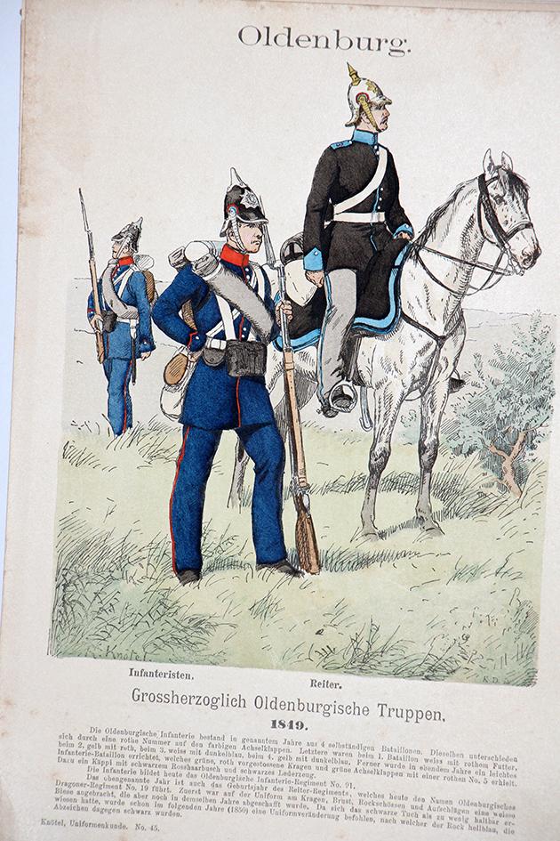 Oesterreich-Ungarn 1866 - Uniformenkunde - Richard Knötel - I - Planche 45