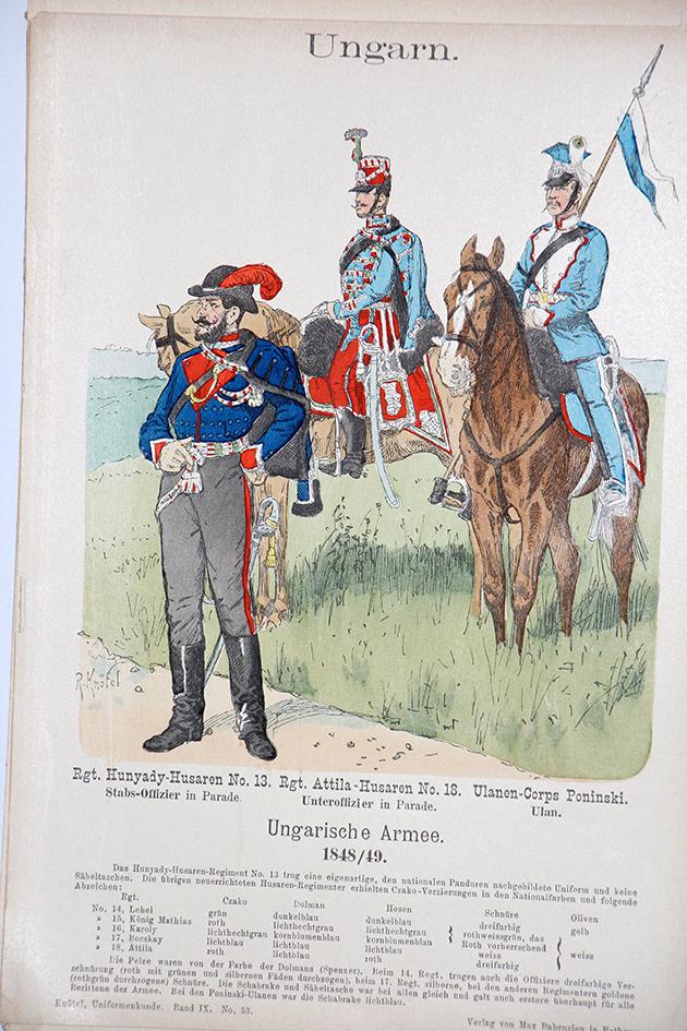 Ungarn 1848/49 - Uniformenkunde - Richard Knötel - IX - Planche 53