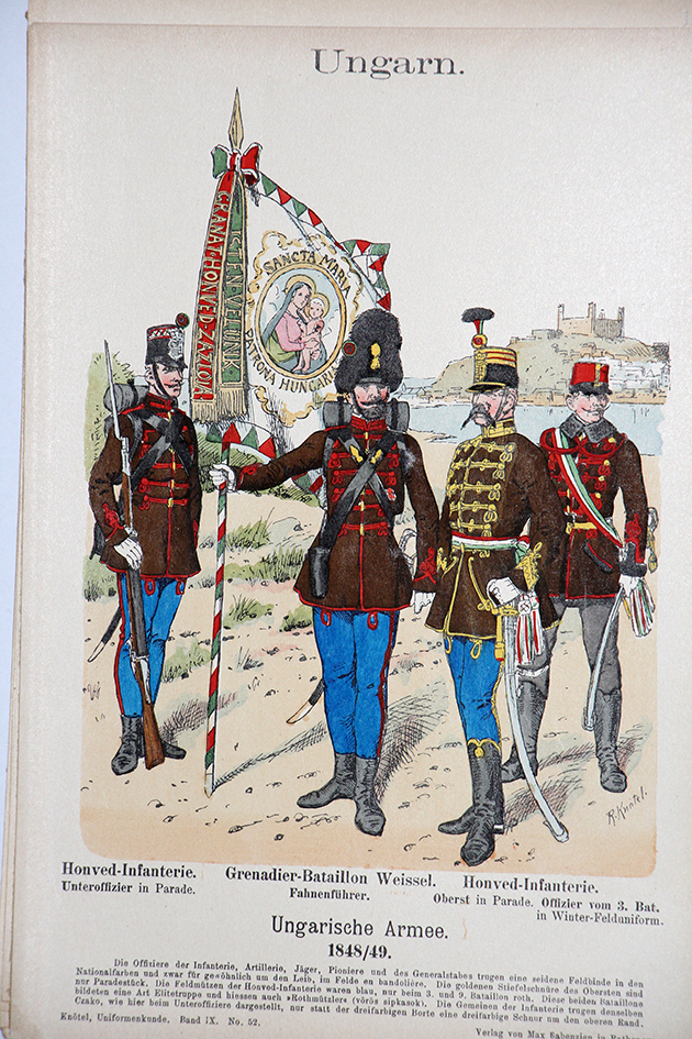 Ungarn 1848/49 - Uniformenkunde - Richard Knötel - IX - Planche 52