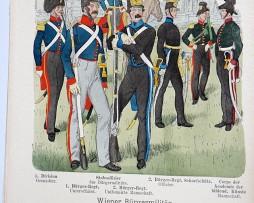 Oesterreich-Ungarn 1848 - Uniformenkunde - Richard Knötel - IX - Planche 43