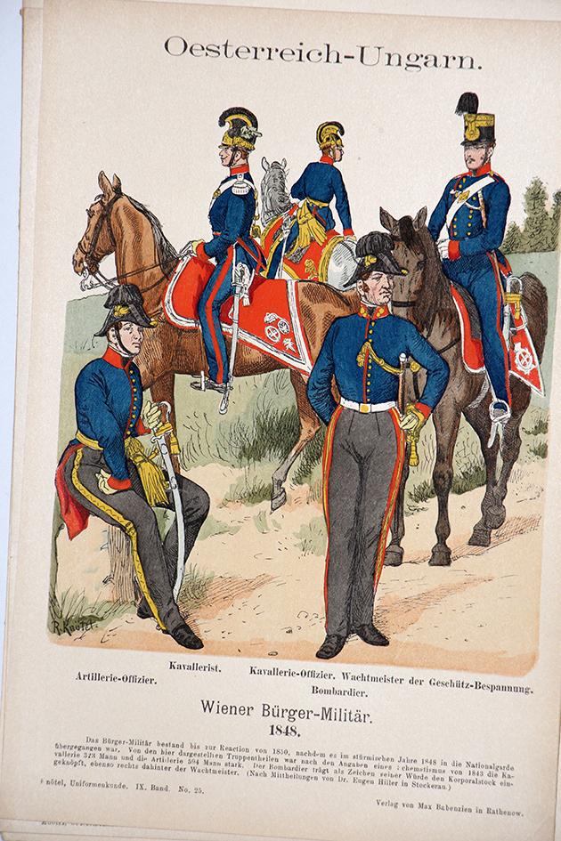 Oesterreich-Ungarn 1848 - Uniformenkunde - Richard Knötel - IX - Planche 23