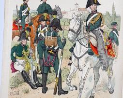 Oesterreich-Ungarn 1820 - Uniformenkunde - Richard Knötel - IX - Planche 15