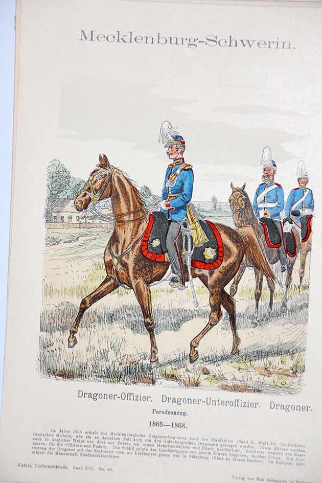 Mecklenburg-Schwerin 1865/1868 - Uniformenkunde - Richard Knötel - XVI - Planche 48