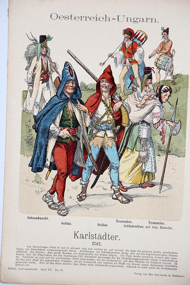 Oesterreich-Ungarn 1742 - Uniformenkunde - Richard Knötel - XV - Planche 56
