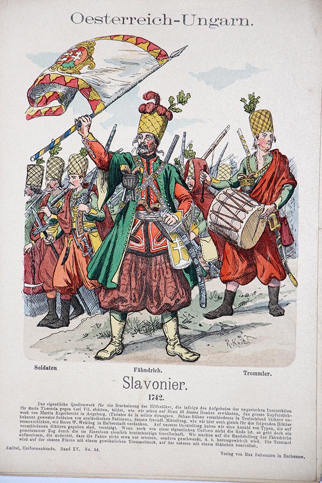 Oesterreich-Ungarn 1742 - Uniformenkunde - Richard Knötel - XV - Planche 54