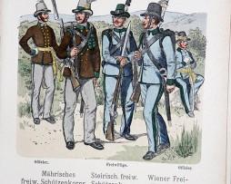 Oesterreich-Ungarn 1859 - Uniformenkunde - Richard Knötel - XV - Planche 23