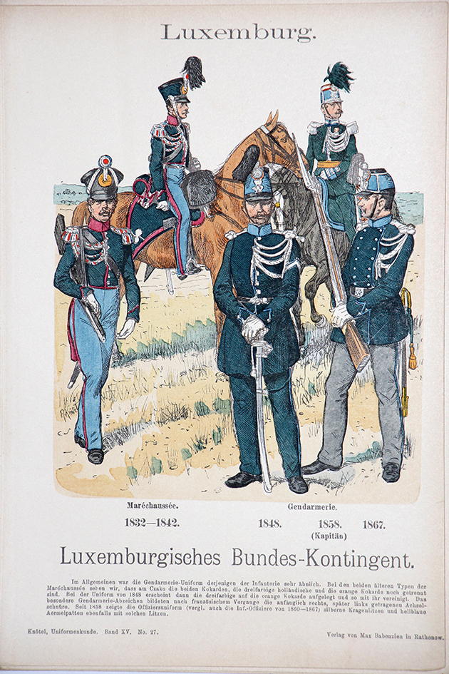 Luxemburg 1832/1867 - Uniformenkunde - Richard Knötel - XV - Planche 27