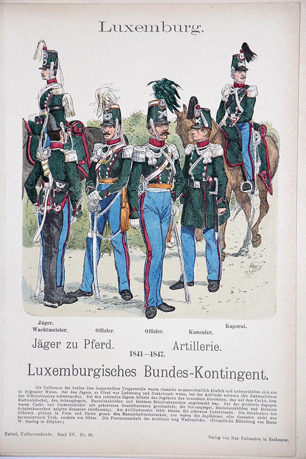 Luxemburg 1841/1847 - Uniformenkunde - Richard Knötel - XV - Planche 26