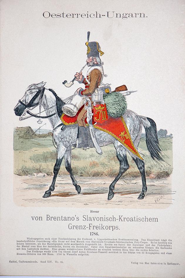 Oesterreich-Ungarn 1786 - Uniformenkunde - Richard Knötel - XIV - Planche 4