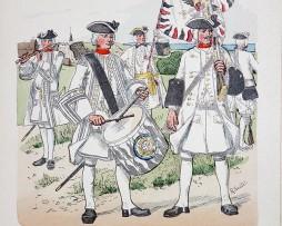 Oesterreich-Ungarn 1717 - Uniformenkunde - Richard Knötel - XIV - Planche 1