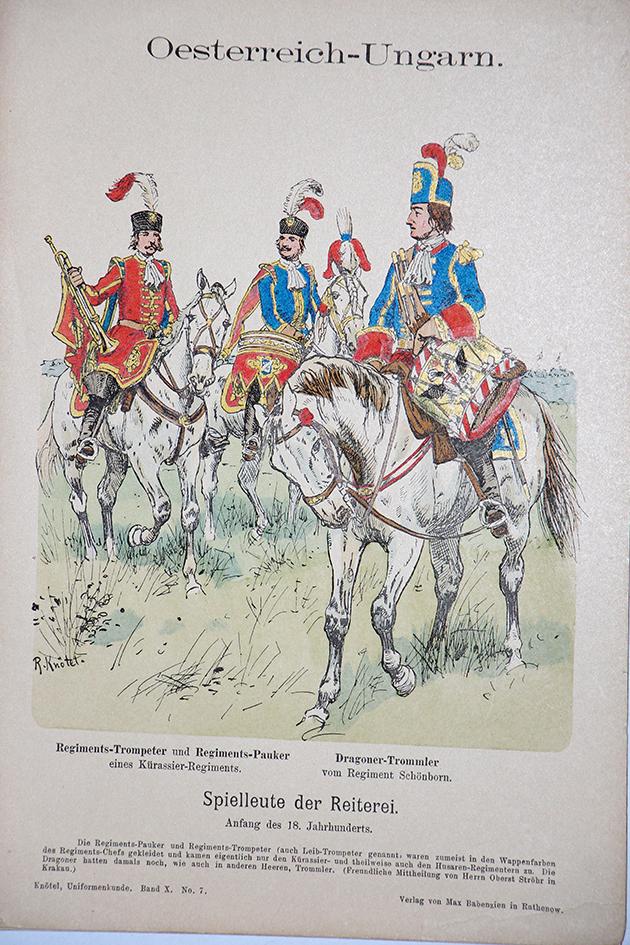 Oesterreich-Ungarn XVIII - Uniformenkunde - Richard Knötel - X - Planche 7