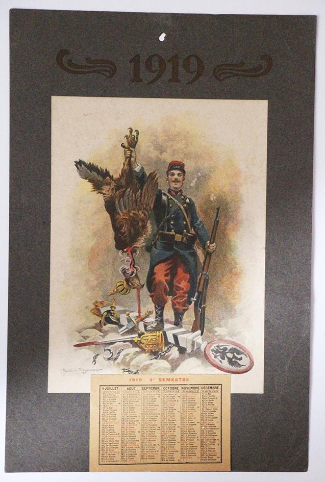 Calendrier 1919 Frederic Regamey