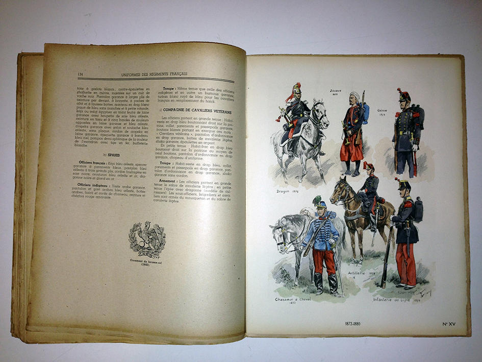 Livre sur les uniformes des régiments français