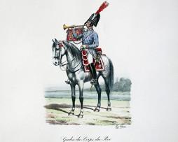 Gardes du Corps du Roi - Trompette 1814/1815- Histoire de la Maison Militaires du Roi 1814/1830 - Eugène Titeux