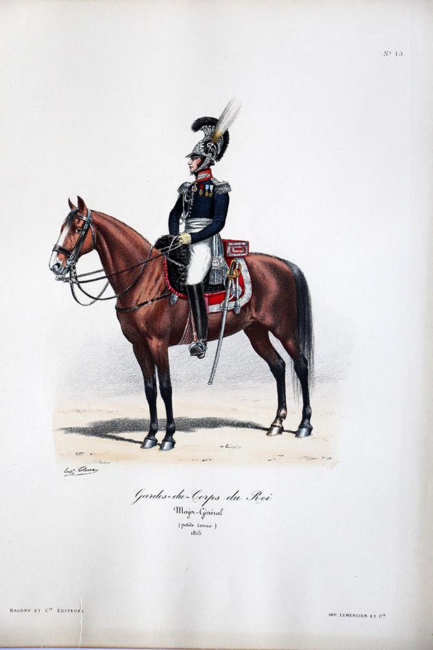 Gardes du Corps du Roi - Major Général 1815- Histoire de la Maison Militaires du Roi 1814/1830 - Eugène Titeux