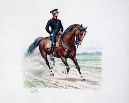 Gardes du Corps du Roi - Tenue de manège 815- Histoire de la Maison Militaires du Roi 1814/1830 - Eugène Titeux