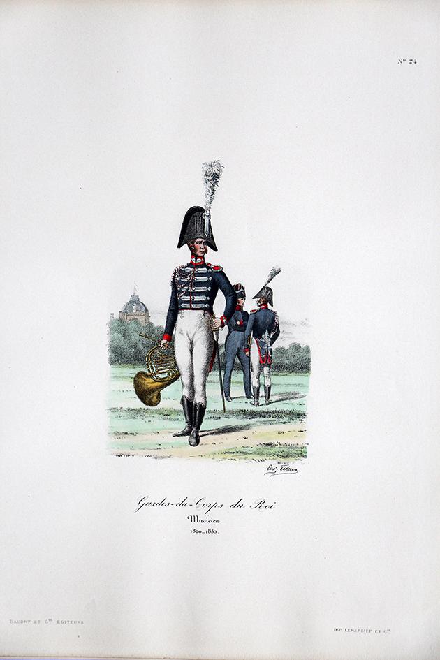 Gardes du Corps du Roi - Musicien - Histoire de la Maison Militaires du Roi 1814/1830 - Eugène Titeux