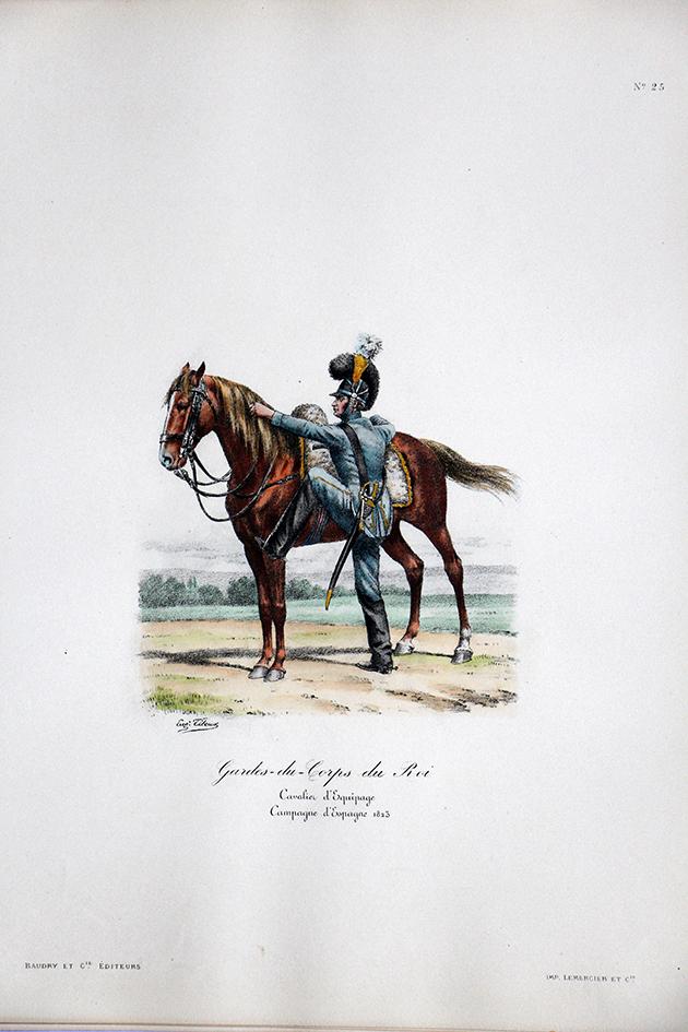 Gardes du Corps du Roi - Cavalier d'équipage 1823 - Histoire de la Maison Militaires du Roi 1814/1830 - Eugène Titeux