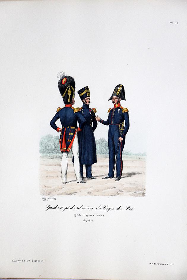 Gardes à pied ordinaires du Corps du Roi - 1817/1830 - Histoire de la Maison Militaires du Roi 1814/1830 - Eugène Titeux