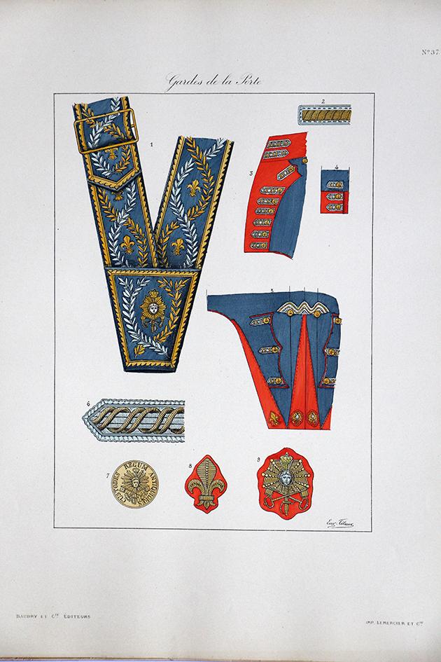 Gardes de la Porte - Histoire de la Maison Militaires du Roi 1814/1830 - Eugène Titeux