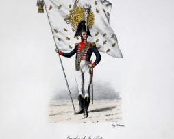 Gardes de la Porte - Drapeau de campagne 1815 - Histoire de la Maison Militaires du Roi 1814/1830 - Eugène Titeux