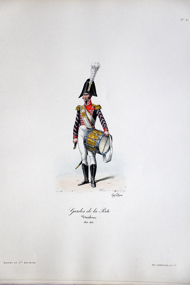 Gardes de la Porte - Tambour 1814/1815 - Histoire de la Maison Militaires du Roi 1814/1830 - Eugène Titeux