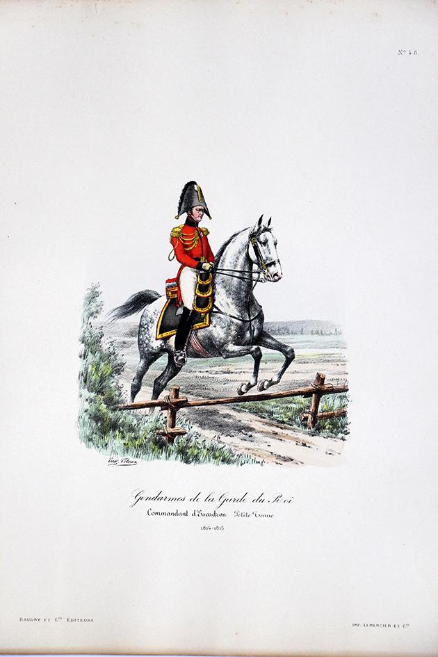 Gendarmes de la Garde du Roi - Commandant d'Escadron 1814/1815 - Histoire de la Maison Militaires du Roi 1814/1830 - Eugène Titeux