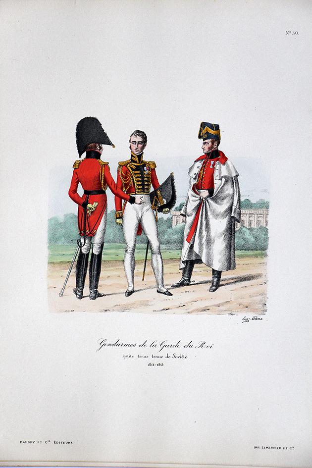Gendarmes de la Garde du Roi - Petite tenue de société 1814/1815 - Histoire de la Maison Militaires du Roi 1814/1830 - Eugène Titeux