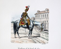 Gendarmes de la Garde du Roi - Trompette 1814/1815 - Histoire de la Maison Militaires du Roi 1814/1830 - Eugène Titeux
