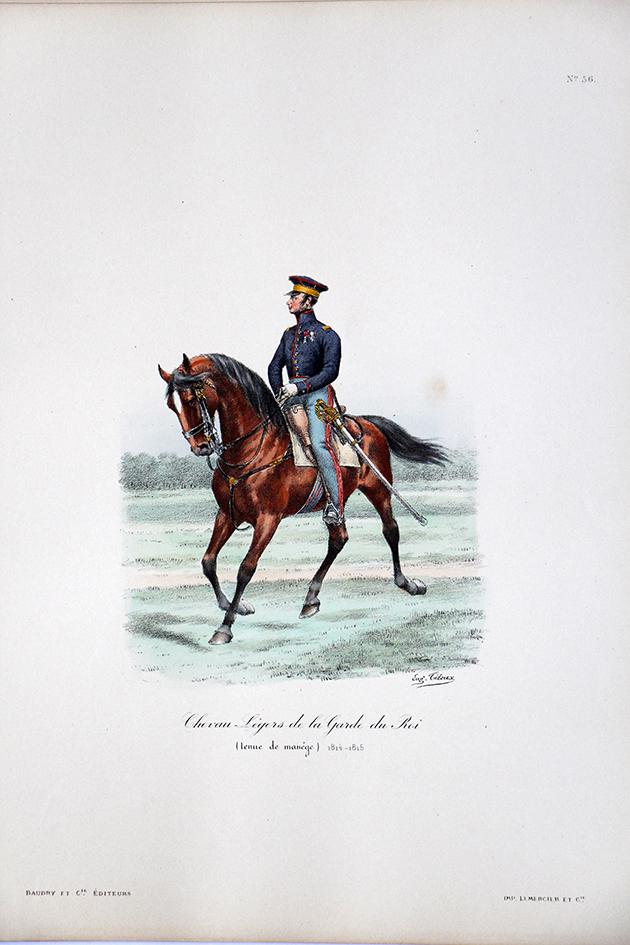 Chevau-légers de la Garde du Roi - Tenue de manège 1814/1815 - Histoire de la Maison Militaires du Roi 1814/1830 - Eugène Titeux