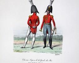 Chevau-légers de la Garde du Roi - Tenue de société 1814/1815 - Histoire de la Maison Militaires du Roi 1814/1830 - Eugène Titeux