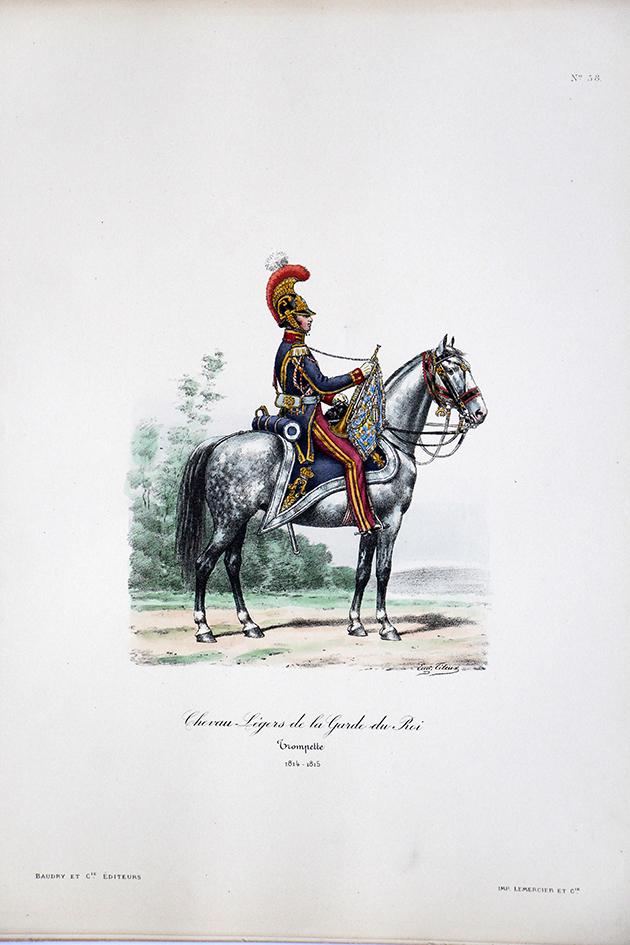 Chevau-légers de la Garde du Roi - Trompette 1814/1815 - Histoire de la Maison Militaires du Roi 1814/1830 - Eugène Titeux