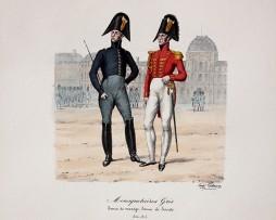 Mousquetaire Gris- Tenue de manège, Tenue de Société 1814/1815 - Histoire de la Maison Militaires du Roi 1814/1830 - Eugène Titeux