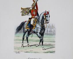 Mousquetaire Gris- Trompette 1814/1815 - Histoire de la Maison Militaires du Roi 1814/1830 - Eugène Titeux