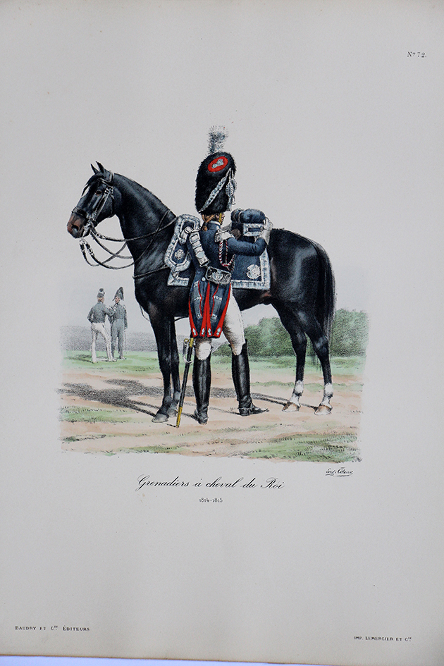 Grenadiers a Cheval du Roi - 1814/1815 - Histoire de la Maison Militaires du Roi 1814/1830 - Eugène Titeux