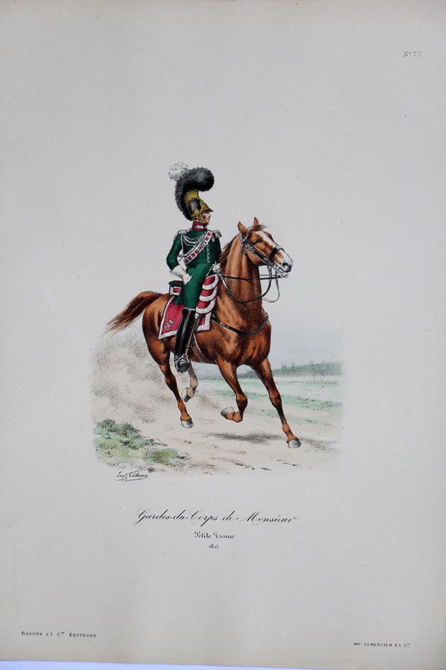 Garde du Corps de Monsieur - Petite Tenue 1815 - Histoire de la Maison Militaires du Roi 1814/1830 - Eugène Titeux