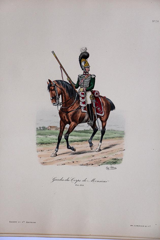 Garde du Corps de Monsieur - 1820/1824 - Histoire de la Maison Militaires du Roi 1814/1830 - Eugène Titeux