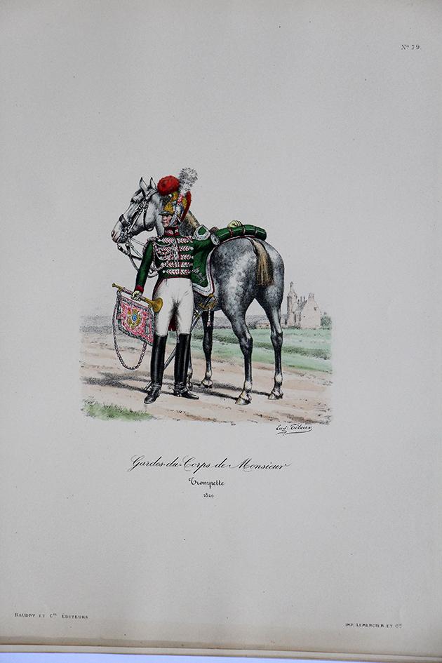Garde du Corps de Monsieur - Trompette 1820 - Histoire de la Maison Militaires du Roi 1814/1830 - Eugène Titeux