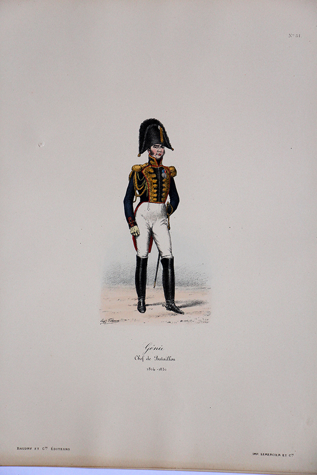 Garde du Corps de Monsieur - Genie Chef de Bataillon 1814/1830 - Histoire de la Maison Militaires du Roi 1814/1830 - Eugène Titeux
