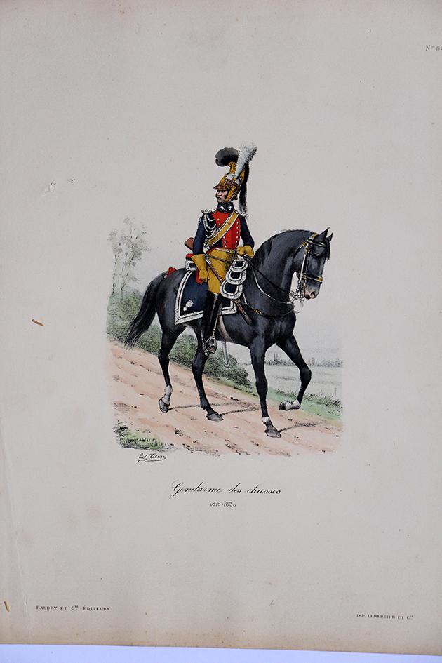 Gendarmerie des chasses- Officier 1815/1830 - Histoire de la Maison Militaires du Roi 1814/1830 - Eugène Titeux