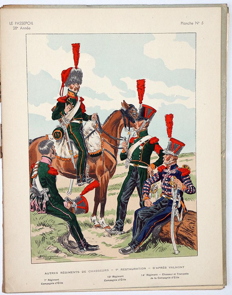 Le passepoil année 1948 unique - Bucquoy - Uniformes Armée Française