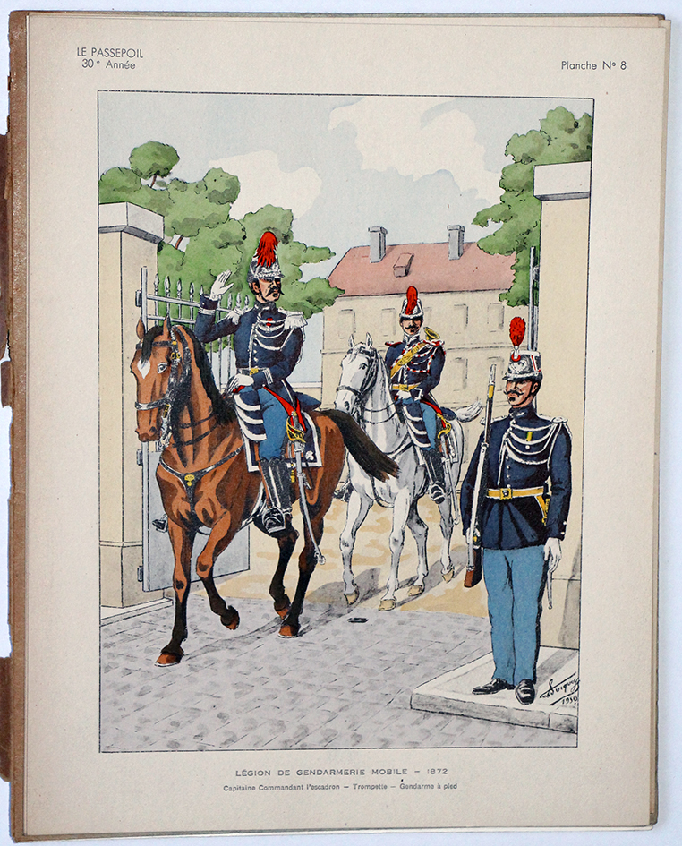 Le passepoil année 1950 unique - Bucquoy - Uniformes Armée Française
