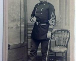 CDV Soldat Français Guerre 1870 Capitaine d'infanterie - garde mobile