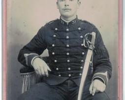 CDV Soldat Français Uniforme Artillerie XX siècle photographie